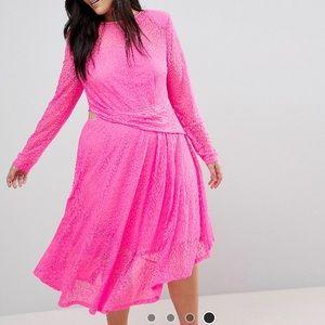 ASOS Curve Lace Midi Dress 20
